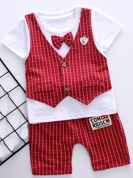 Ericdress Patchwork Bowknot T Shirt Shorts Baby Boy's Outfits