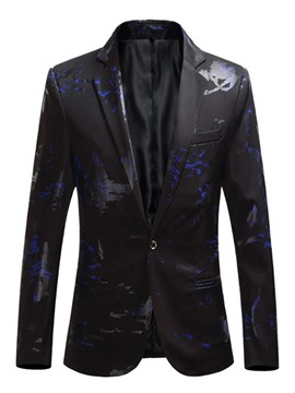 Ericdress Floral Print Slim Fit Mens Casual Blazer Jacket