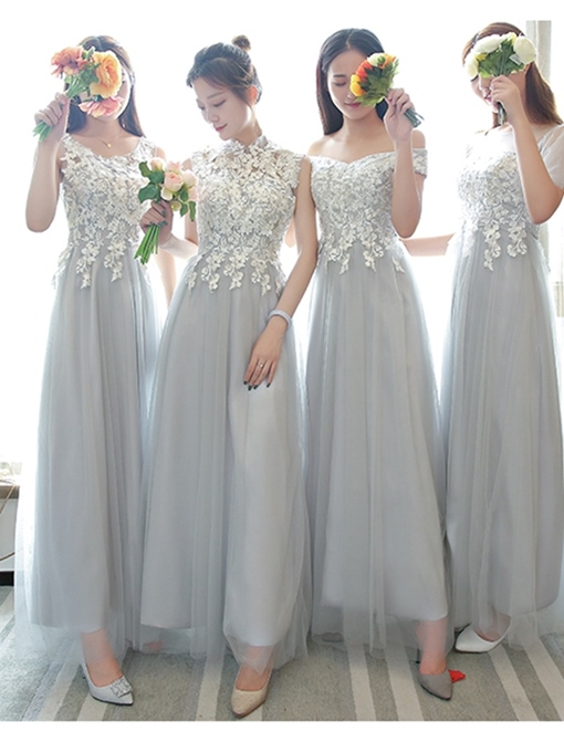 Ericdress A-Line Lace Ankle-Length Bridesmaid Dress 2019