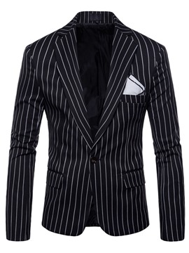 Ericdress Vertical Stripe Loose Mens Jacket Blazer