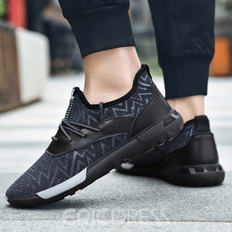 Ericdress Breathable Round Toe Lace-Up Men's Athletic Shoes