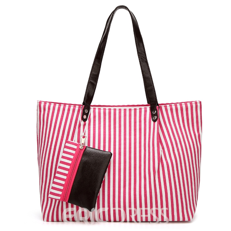 Ericdress Casual Stripe Pattern Shoulder Bag