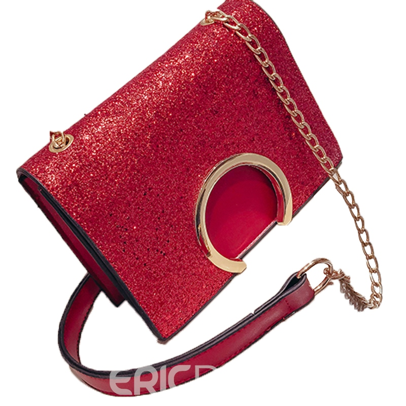 Ericdress Chic Sequins PU Women Shoulder Bag
