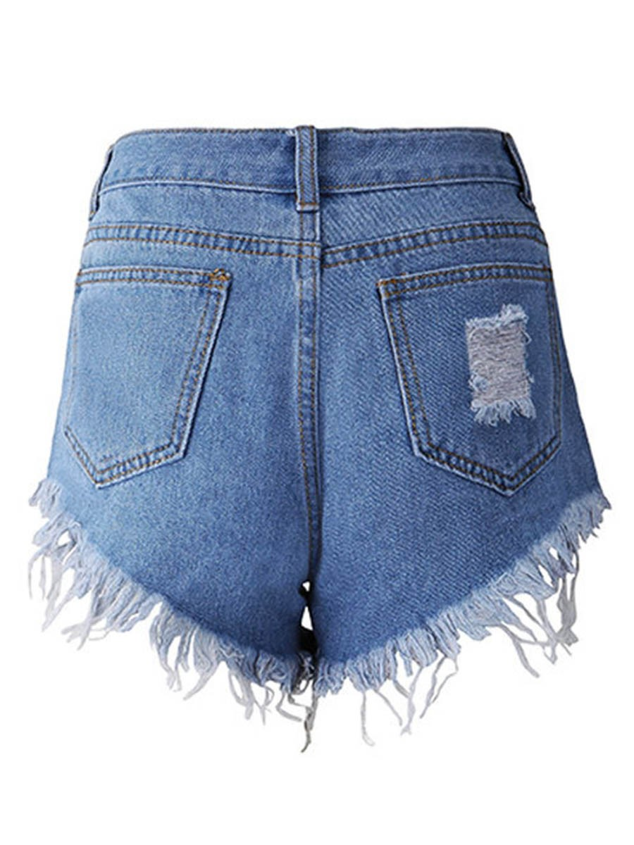 Ericdress Denim Plain Women's Shorts