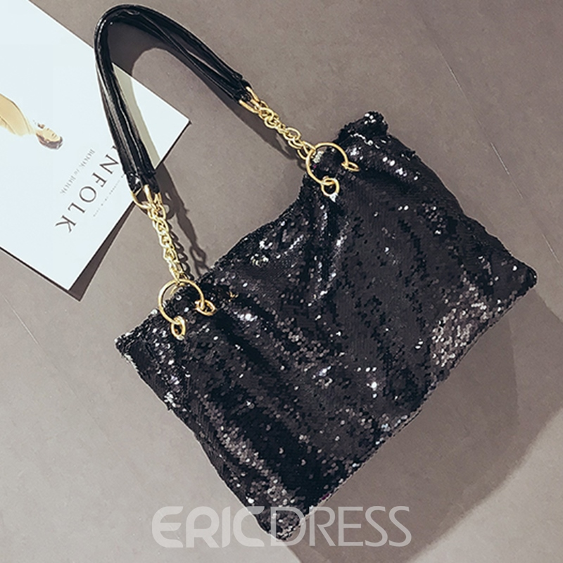 Ericdress Dazzling Sequins Zipper Shoulder Bag