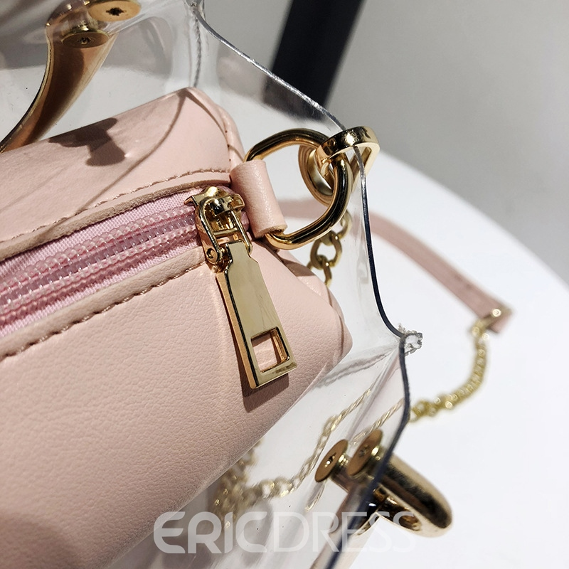 Ericdress Colorful Chain Soft Tote Bag