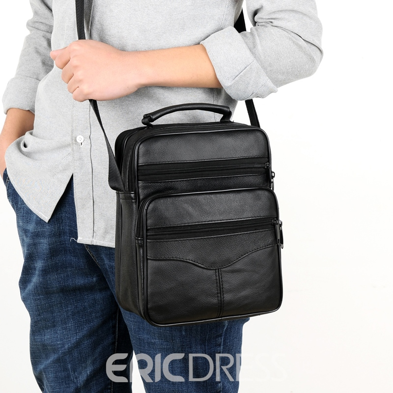 Ericdress Casual Plain PU Men's Crossbody Bag