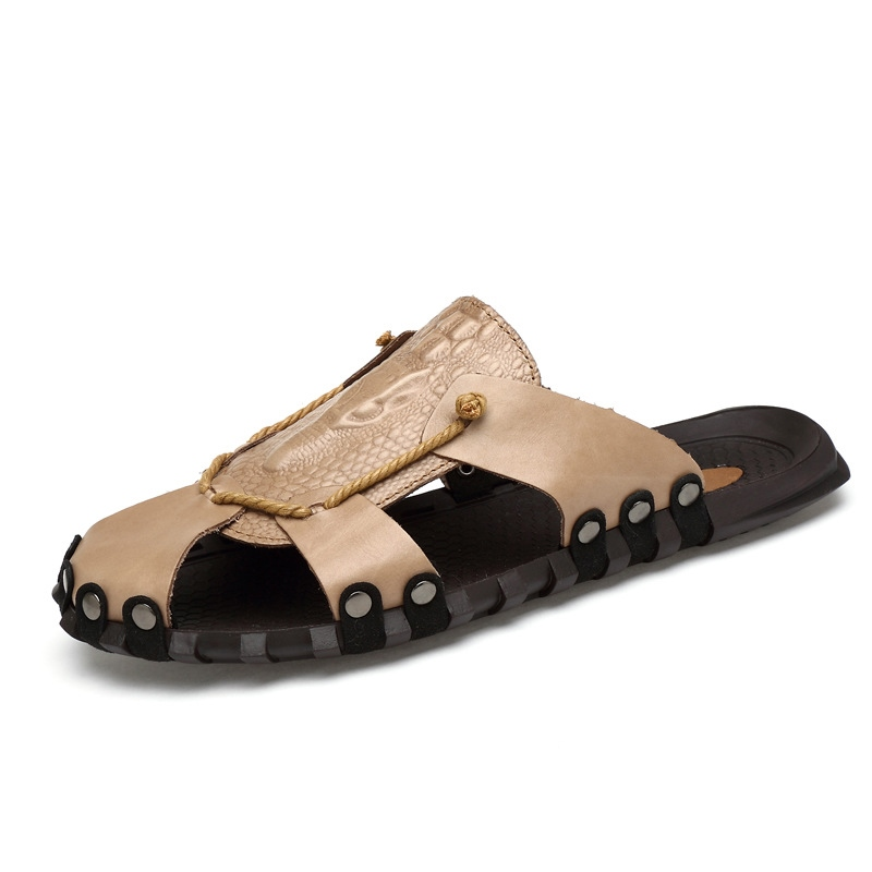 Ericdress Rivet Closed Toe Plain Men's Sandals