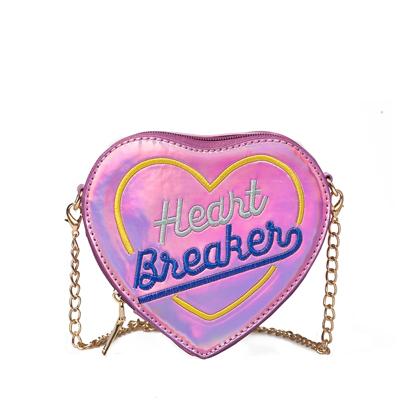 Ericdress Heart Shape Chain Crossbody Bag