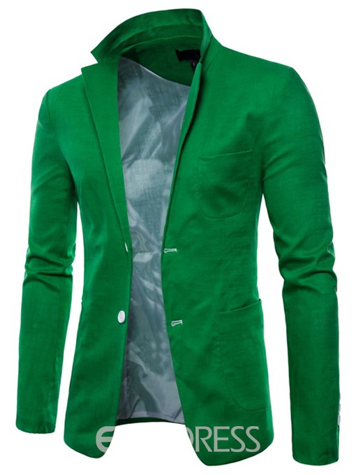 Ericdress Plain Thin Loose Mens Blazer