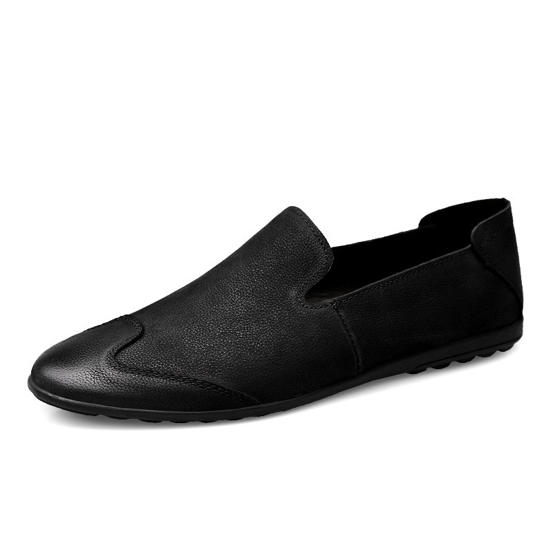 Ericdress Black Soft Slip-On Round Toe Men's Loafers