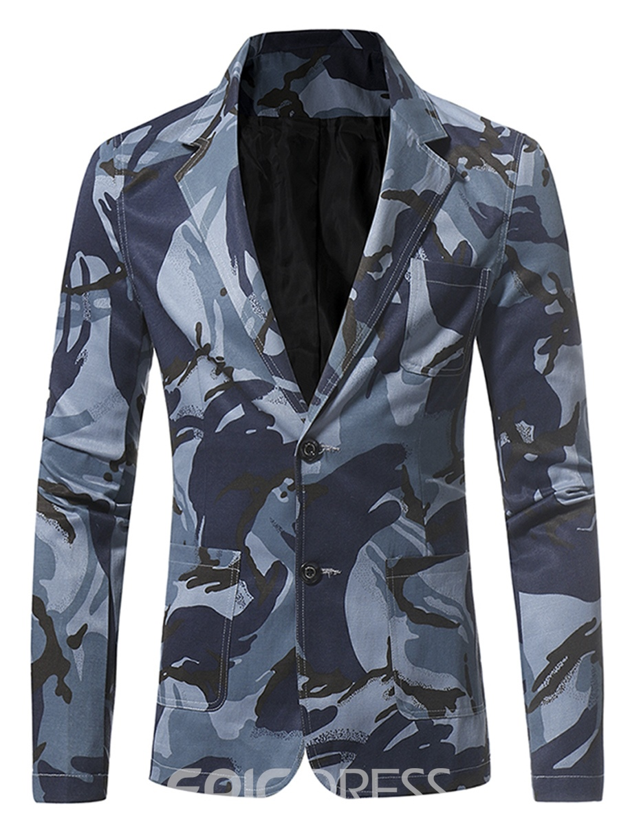 Ericdress Camouflage Mens Casual Jacket Blazer With Pocket