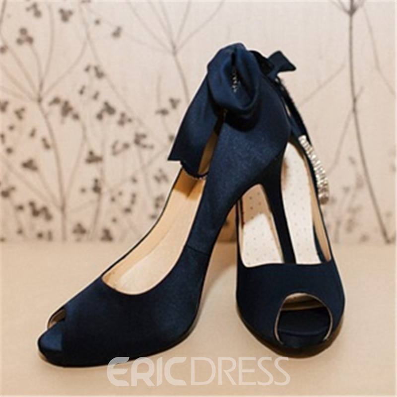 Ericdress Plain Peep Toe Stiletto Heel Women's Pumps