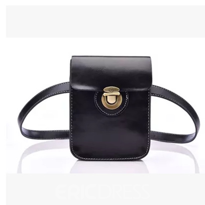 Ericdress Retro PU Lock Waist Bag
