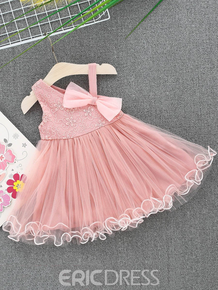 Ericdress A-Line Mesh Bowknot Baby Girl's Sleeveless Princess Dress