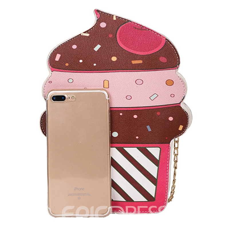 Ericdress Ice Cream Shape PU Crossbody Bag