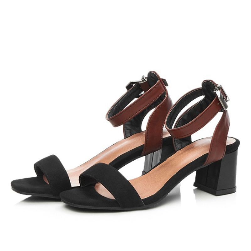 Ericdress Color Block Open Toe Chunky Sandals