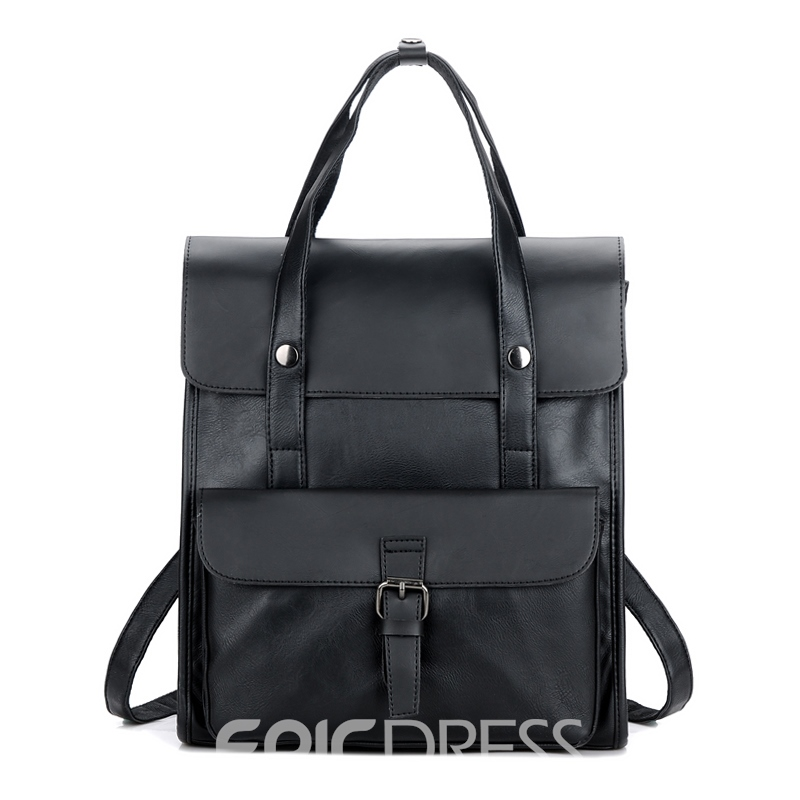 Ericdress Plain Zipper Men's Backpack