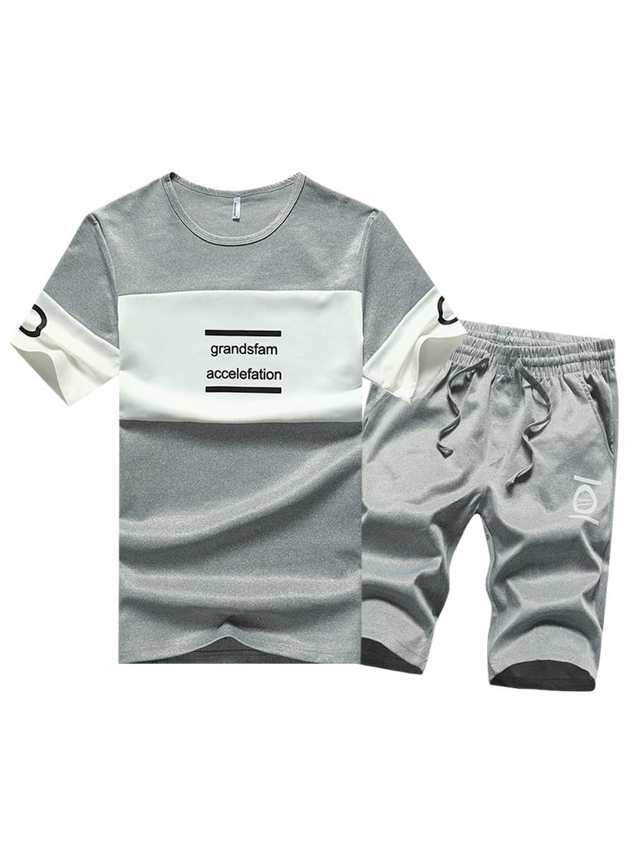 Ericdress Pants Color Block Mens Summer Outfit