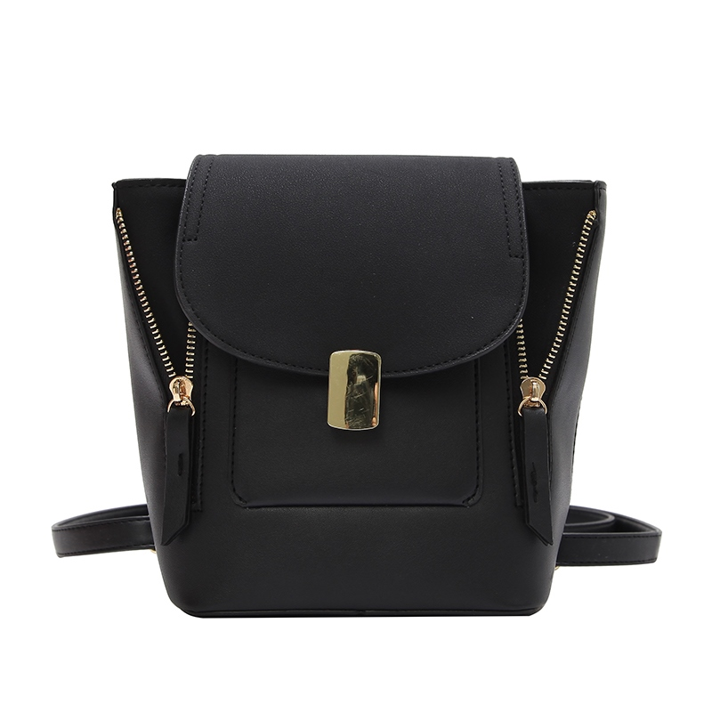 Ericdress Trendy Color Block PU Mini Backpack