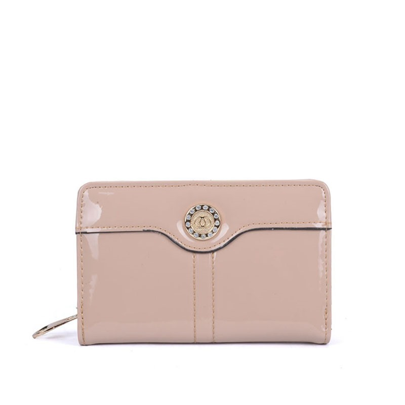 Ericdress Long Type Glossy Plain Women Wallet
