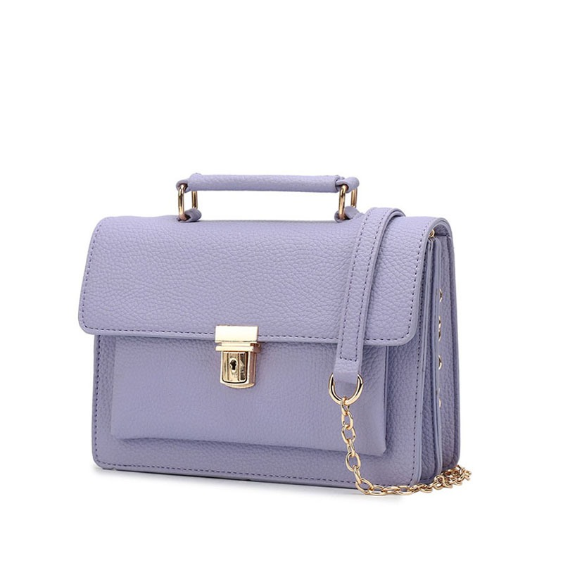 Ericdress Plain Latch Decoration Women Crossbody Bag
