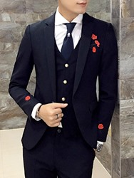 Ericdress Lapel Patchwork Wedding Three-piece of Mens Suits фото