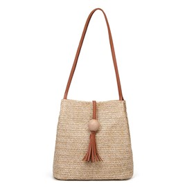 Ericdress Grass Barrel-Shaped Straw Bag