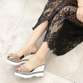Ericdress Flip Flop Slip-On Platform Wedge Heel Mules Shoes