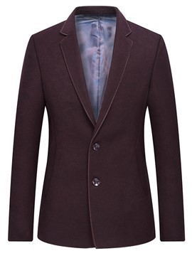 Ericdress Plain Single Breasted Mens Straight Jacket Blazer