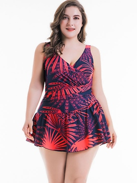 Ericdress Plus Size Floral One Piece Bathing Suits