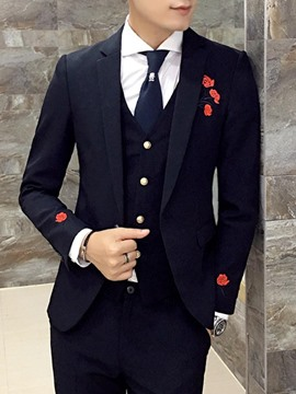 Ericdress Lapel Patchwork Wedding Three-piece of Men's Suits