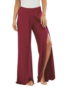 Ericdress Loose Plain Wide Leg Women's Pants
