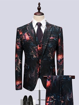 Ericdress Notched Lapel Slim Fit Wedding Three-piece of Men's Suits