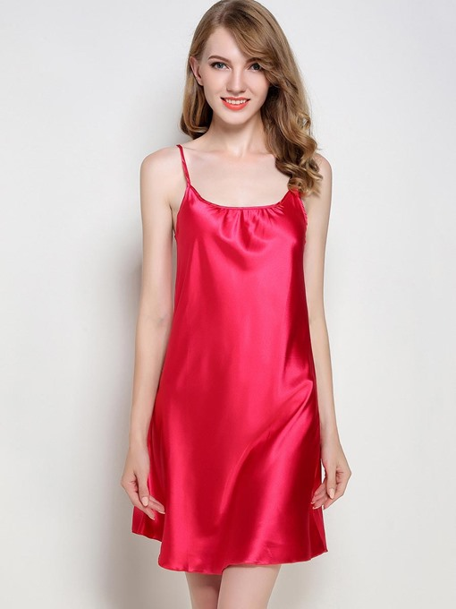 Ericdress Scoop Simple Spaghetti Strap Summer Women's Nightgown