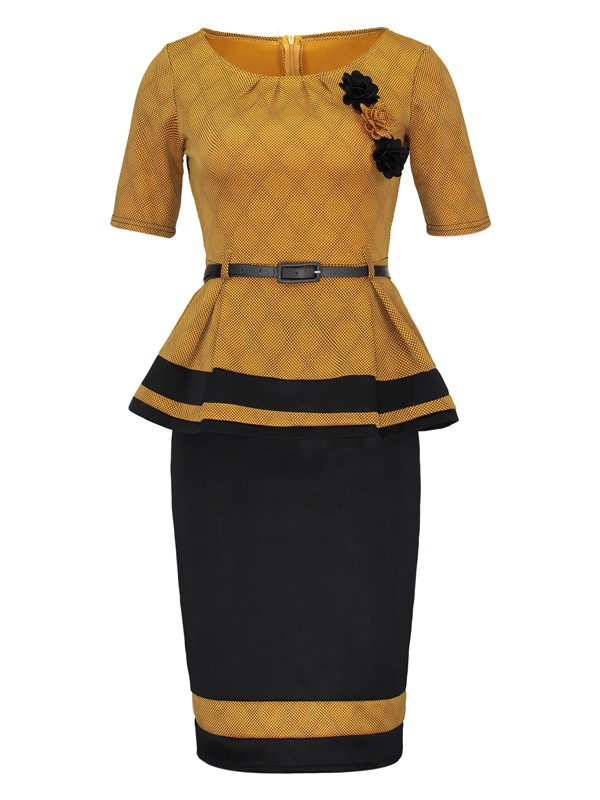Ericdress Bodycon Skirt and Color Block Tops Womens Suit - $17.17