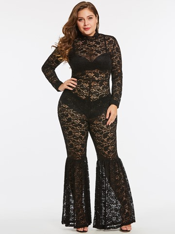Ericdress See-Through Lace Women's Jumpsuit