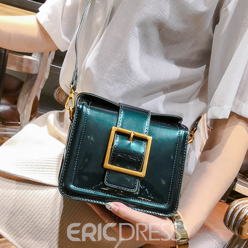 Ericdress Belt Decorated Bright Color Crossbody Bag