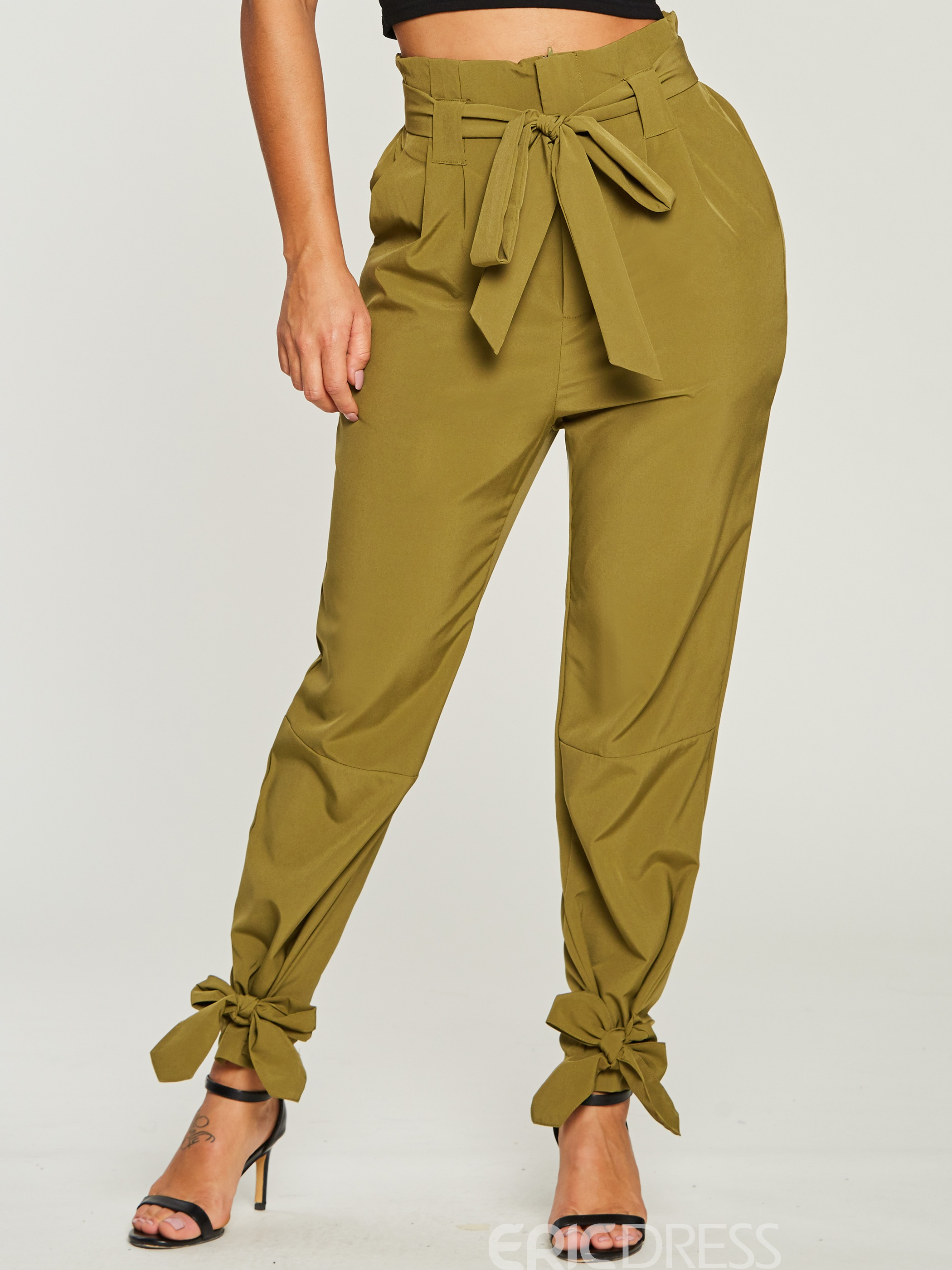 Ericdress Plain Bowknot Women's Pants