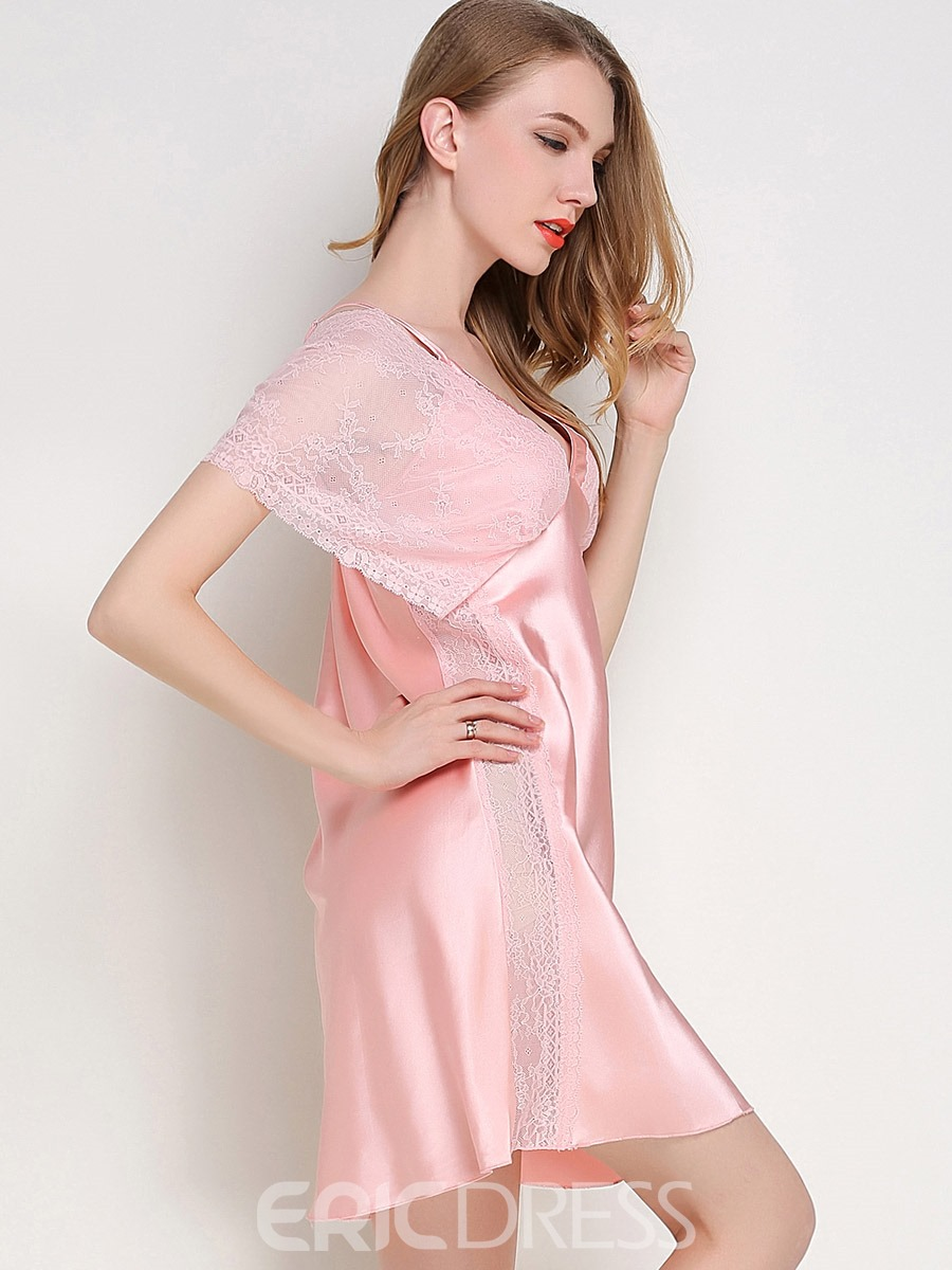 Ericdress V-Neck Batwing Sleeve Above Knee Women's Nightgown