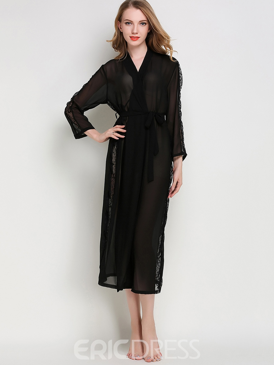 Ericdress Robe See-Through Long Sexy Night Robe
