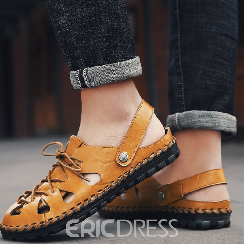 EricdressCasual Closed Toe Plain Men's Sandals