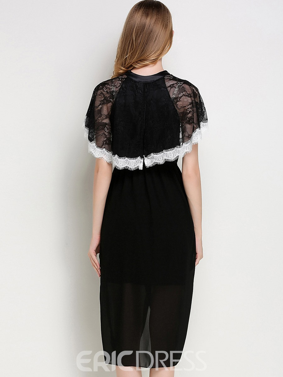 Ericdress Nightgown Slit Up Sexy Batwing Sleeve Lace Night Dress