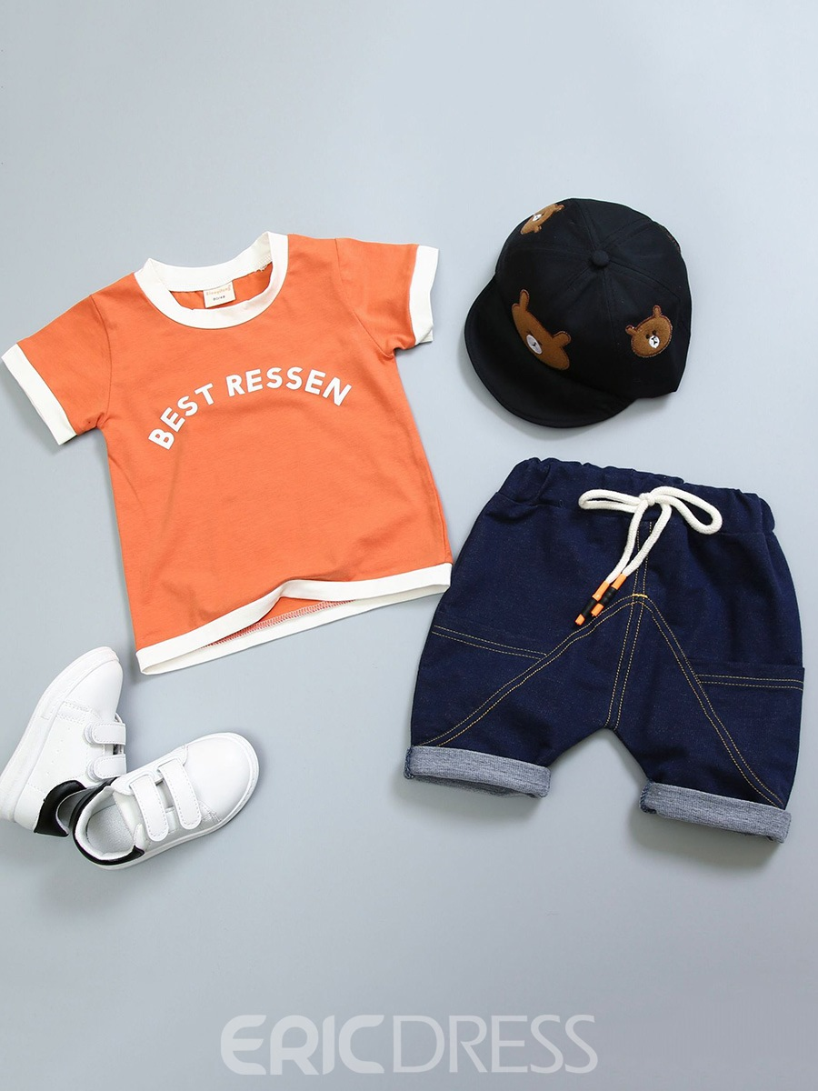 Ericdress Letter Print Lace UP Baby Boy's Summer Outfits