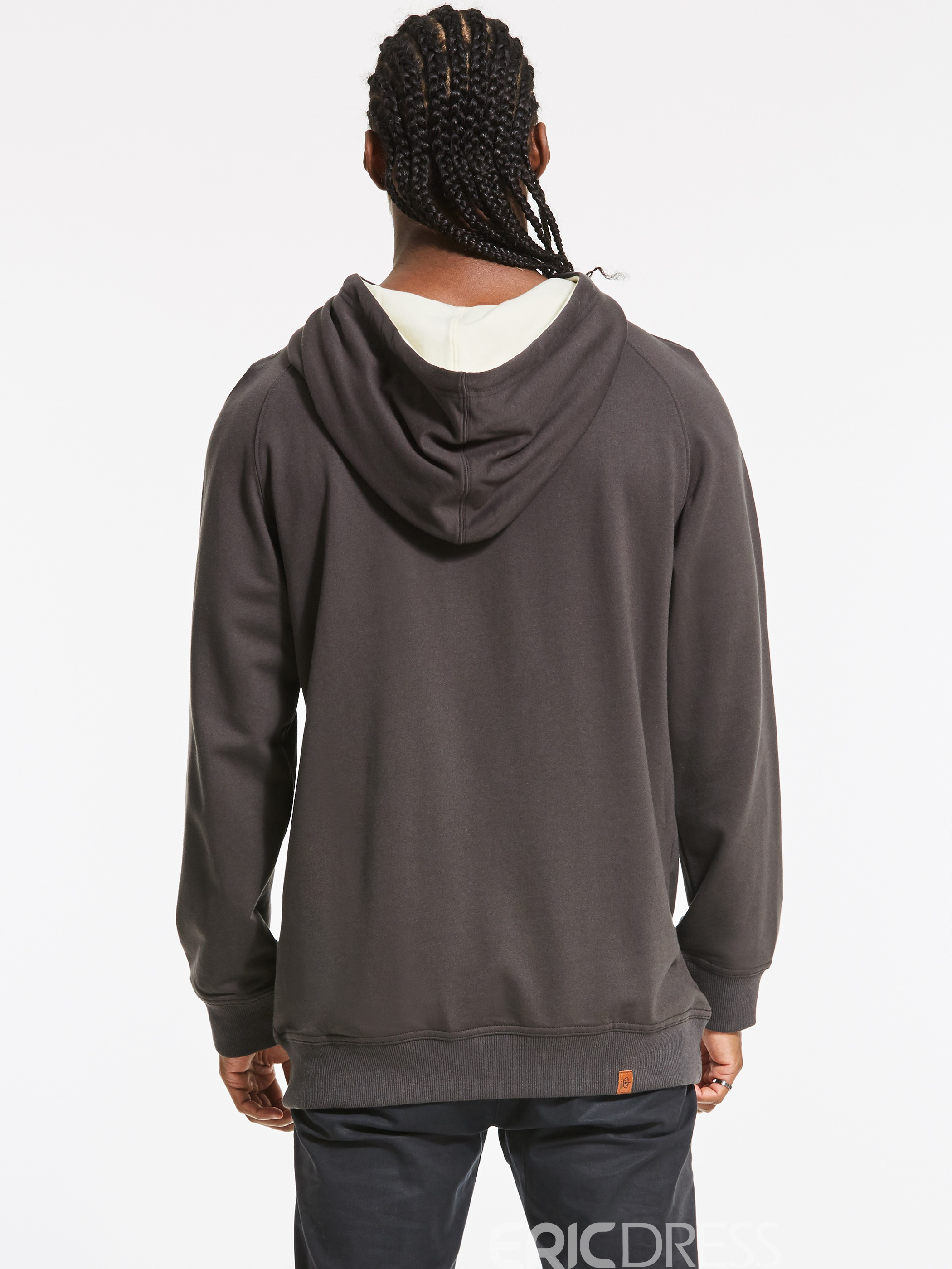 Ericdress Hooded Lace-Up Men's Pullover Hoodie