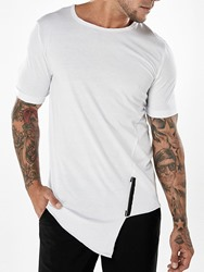 Ericdress Asymmetry Straight Solid Color Mens T Shirt ericdress