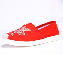 Ericdress Embroidery Plant Slip-On Women's Flats