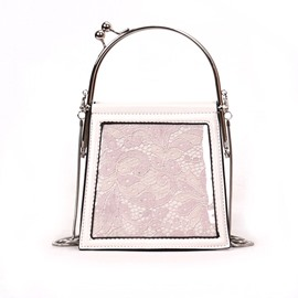 Ericdress Floral Hollow Mini Tote Bag