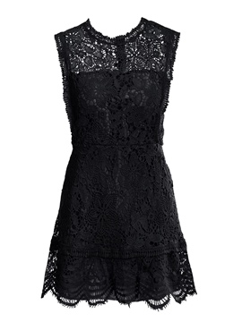Ericdress Above Knee Pullover Lace Women's A-Line Dress