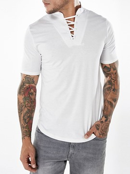 Ericdress V-neck Bandege Short Sleeve Men's T-shirt